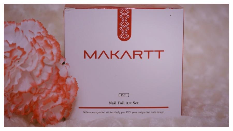 Makartt Nail Foil Art Set Kit Review | The Luxe Angel | DIY Nails