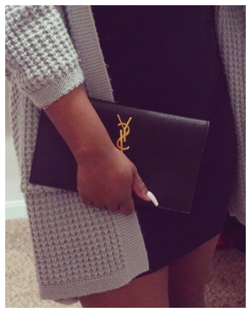 Luxe Layers Ft. Saint Laurent Uptown Pouch | The Luxe Angel 
