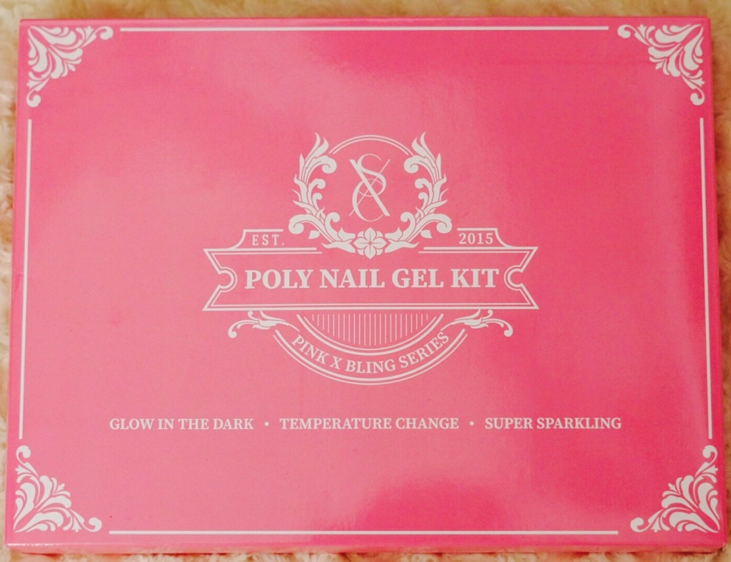 Ombré Ft. Pink and Bling Polygel Kit by SXC Cosmetics