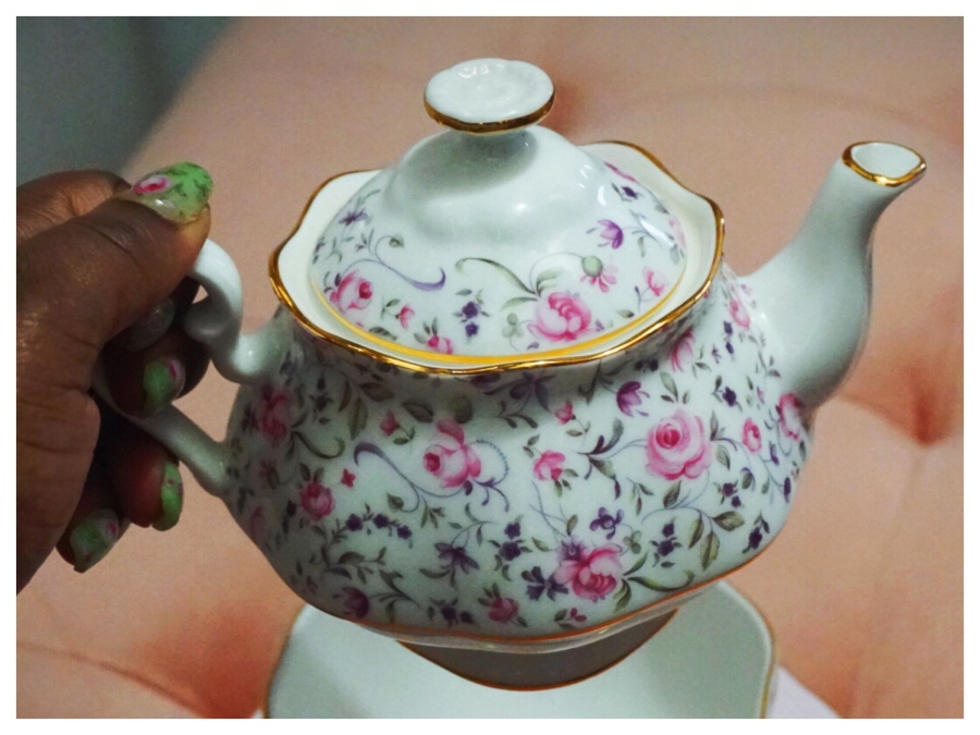The Royal Treatment Ft. Royal Albert   Luxe Lifestyle   The Luxe Angel rose confetti tea for one